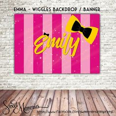 Wiggles Backdrop, Emma Wiggles Birthday Banner, Emma Wiggles Poster, Wiggles Printable Backdrop, Digital File, bowtiful Banner, Emma Wiggles ········································ W H A T · Y O U · G E T ········································ ✖️ You will receive 1x high Wiggles Birthday, Wiggles Party, 5th Birthday, Birthday Parties, Birthday Ideas, Banner Backdrop, Zara Kids, Backdrops