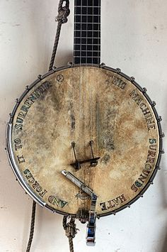 """""""This machine surrounds hate and forces it to surrender""""always, man,i love my banjo."""