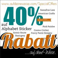 Sale – Alphabet Sticker 40% off