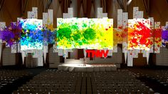 A sneak peek of one of the stages at The Next Web Conference 2013. It's 38 yards wide.