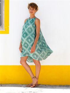 #Vestido de gasa plisada #estampada totalmente #forrado. Para #premamás a las que les encanta ir a la #moda todo el veranito :-)
