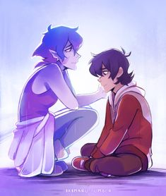 Young Keith and his Galra Mother, Krolia from Voltron Legendary Defender Voltron Galra, Voltron Comics, Voltron Memes, Voltron Fanart, Form Voltron, Voltron Ships, Voltron Force, Shiro, Spiderman Meme