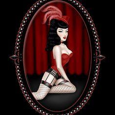 Burlesque T - shirts, stickers, postcards