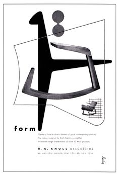 Knoll adverts by Alvin Lustig