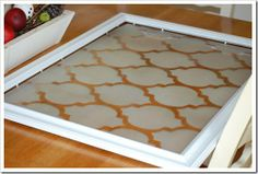 Diy Framed Stencil Wall Art