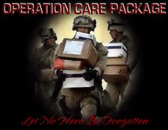 """Operation Care Package -- send Santa to the troops!  You can sponsor a package, send supplies or donate money.  """"Operation Care Package is a volunteer 501 (c)(3) public charity, dedicated to our mission that no Hero serving our Nation should be forgotten."""""""