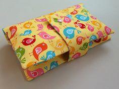 Windeltasche Wickeltasche (Vögelchen) von kleine Kuschelrobbe auf DaWanda.com