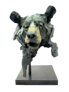 Jean-François Gambino – Harmattan – Galerie d'art à Megève Paper Mache Sculpture, Art Sculpture, Animal Sculptures, Clay Bear, Sculpture Techniques, Animation Reference, Ceramics Projects, Clay Animals, Animal Faces