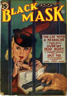 """black mask"" Pulp Art Book Covers"