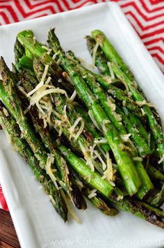 Grilled Parmesan and Pepper Asparagus - Katie's Cucina