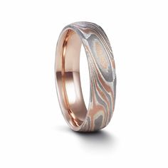 And those one for men are just gorgeous! Mokume Gane Rose Gold, White Gold and Silver Acid Etched Ring