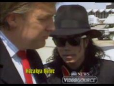 RARE 1990 THROWBACK: Michael Jackson & Donald Trump Visit Ryan White's H...