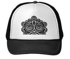 """Trucker Hat100% polyester foam front100% nylon mesh back keeps you coolAdjustable from 17"""" to 24"""" Available in 11 color combinationsColor shown is Black/White"""