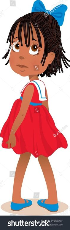 Little Girl in Red Sailor Dress