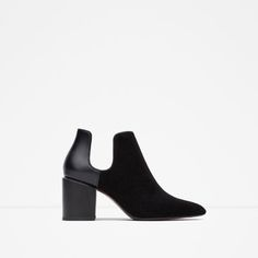 ZARA - WOMAN - COMBINED HIGH HEEL ANKLE BOOTS