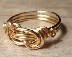 Gold Infinity Love Ring, Gold Infinity Ring, Size 4 5 6 7 8 9 10 11 12 13 14, Jewelry Rings, Gold Love Knot Ring, Gold Infinity Knot Ring