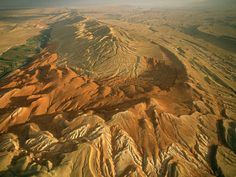 Sheep Mountain anticline in Wyoming. It was formed during the Laramide Orogeny.