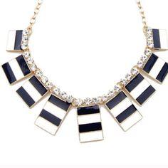 Sale Nautical Stripe Necklace
