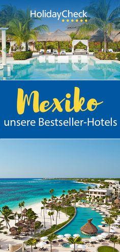 Ihr seid noch auf der Suche nach der perfekten Unterkunft für eure Reise nach Mexiko? Hier findet ihr unsere Bestseller-Hotels. Egal ob Strandurlaub, Rundreise oder Flitterwochen, hier ist für jeden etwas dabei. Für euren Urlaub mit Freunden, allein oder mit der Familie haben wir die besten Hotels zusammengestellt. Unsere Geheimtipps für euren perfekten Urlaub auf Mexiko mit Fotoideen, Bildern und weiteren Tipps.  #mexiko #bestseller #holidaycheck Beste Hotels, Best Sellers, Weather And Climate, Honeymoon Pictures