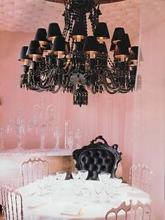 ...a black chandelier would be heavenly.