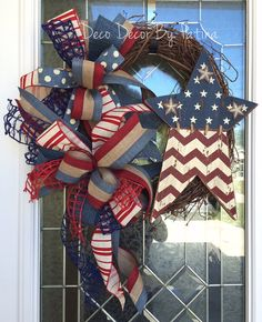 4th of July Wreath  4th of July Grapevine by DecoDecorByPatina