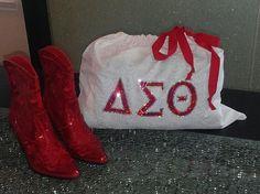 Delta Sigma Theta Shiny Bag