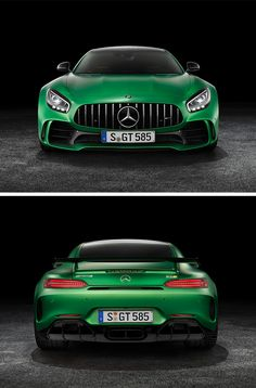 Aerodynamics engineers and designers worked together more intensively than ever during development of the new Mercedes-AMG GT R. #BeastoftheGreenHell [Combined fuel consumption: 11.4 l/100 km | Combined CO2 emissions: 259 g/km | http://benz.me/EfficiencyStatement]