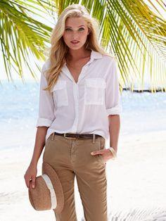 brandi white shirt - safari chic - women - Gorsuch