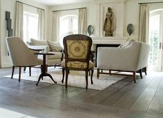 Antique French oak floor boards