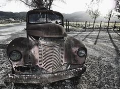 Old Truck Rusting Away in a Vineyard, Oakville, Napa Valley, California