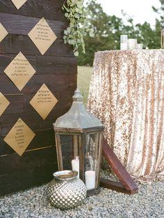 Rustic glam wedding decor