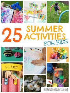 Summer is winding down, and I know many families are getting ready for a new school year. Maybe you're even counting the days until you usher your little ones onto the bus? (No shame in that! Outdoor Activities For Toddlers, Rainy Day Activities, Toddler Learning Activities, Summer Activities For Kids, Creative Activities, Summer Kids, Projects For Kids, Crafts For Kids, Things To Do When Bored
