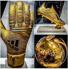 Individual awards of the 2018 FIFA World Cup Russia. The golden glove the golden boot & the golden ball. Best Soccer Shoes, Adidas Soccer Shoes, Nike Football Boots, Soccer Boots, Adidas Football, Nike Soccer, Soccer Cleats, Football Players, Football Soccer