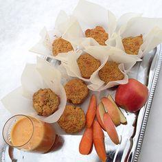 Eple og gulrotmuffins (Pulpmuffins)