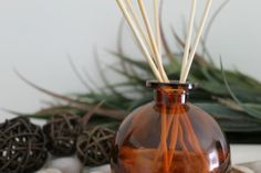 Learn how to make your own reed diffuser refill liquid - easy recipe and instructions for how to make a homemade reed diffuser