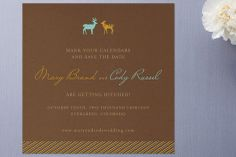 Love You Deerly Save the Date Cards by 2birdstone at minted.com