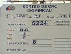 -Resultados Lotería de Panamá domingo 7-12-14 -PremiosBilletes-Letras-Serie y Folio -Premio Mayor-5224-BBAC- 2 y 8 -Segundo Premio-6328...mas detalles ver el blog....