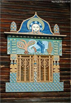 Wooden lace of Russian architecture Talashkino