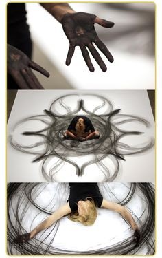 """Part dance, part performance art, part kinetic drawings and TOTALLY Amazing!""  Wendy. Art by Heather Hansen"