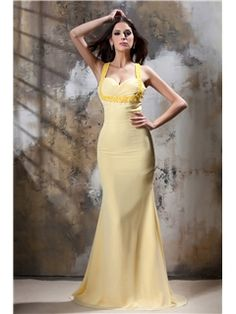 Chic Mermaid Floor-Length Straps Taline's Evening/Prom Dress