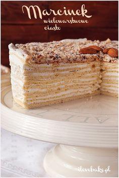 Ciasto Marcinek - I Love Bake Vanilla Cake, French Toast, Baking, My Love, Breakfast, Food, Food Cakes, Cake Ideas, Dessert Ideas