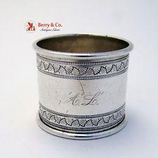 Napkin Ring Sterling Silver Gorham 1878