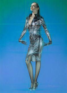 Amazing retro futuristic fashion - Fashion Show Drawn Art, Futuristic Art, Airbrush Art, Cyberpunk Art, Star Girl, Future Fashion, Pin Up Art, World Of Fashion, Sliders