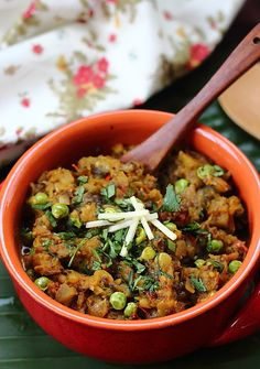 Baingan Bartha is my FAVORITE Indian food.  I would eat it every day....