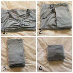 How to fold different types of clothing for space saving organization....boxers, panties, sports bras, tank top, etc....excellent site