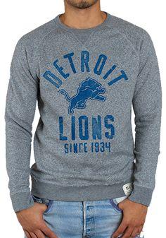 Detroit Lions Junk Food Womens Champion Color-Blocked Crew Fleece ...