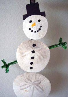 sand dollar craft | Sand Dollar Snowman | Flickr - Photo Sharing!