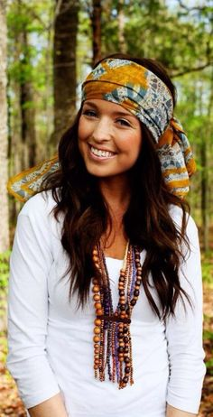 Boho Chic, Windsor Scarf-White T