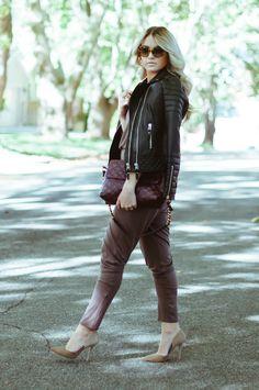 leather jacket combo