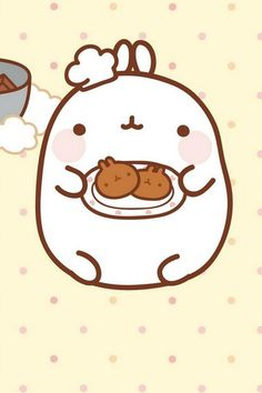 Chef Molang here! Ready to serve you some homemade cookies!